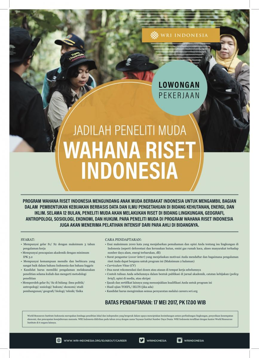 Jadilah Peneliti Muda Program Wahana Riset Indonesia Wri Indonesia