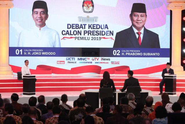The presidential candidates are set for the second official debate, focusing on sustainability issue. Photo credit: Komisi Pemilihan Umum