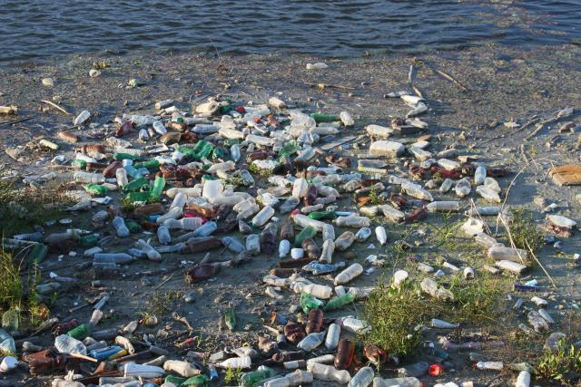 Plastic garbage in polluted water. Photo credit: Robert Vicol/Flickr