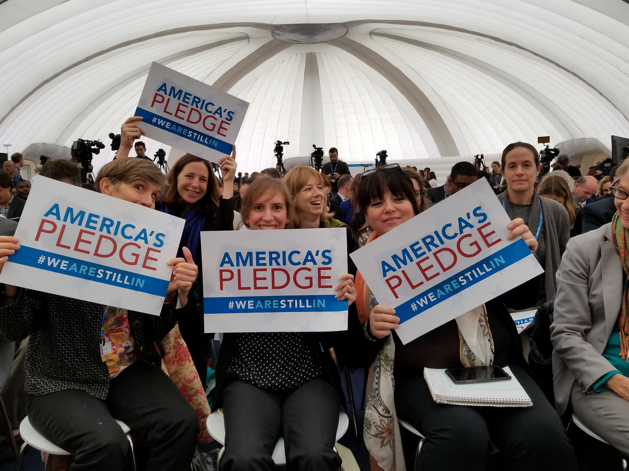 <p>At an event where America\'s Pledge was announced. Flickr/WRI</p>