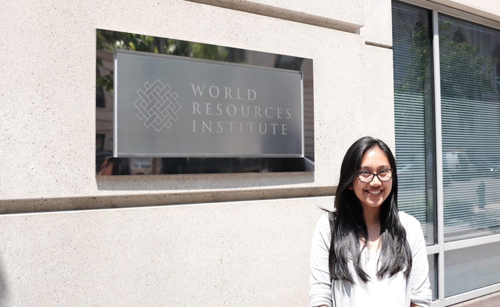 <p>Posing in front of the WRI office.</p>