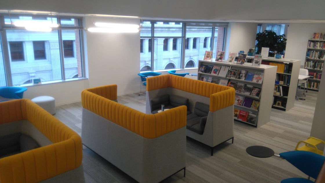 <p>WRI DC's library area.</p>